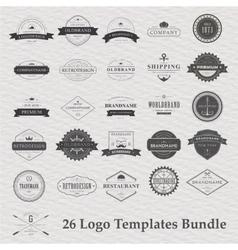 set of vintage camping logo vector image