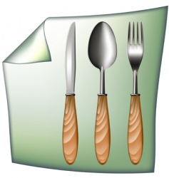 spoon fork knife vector image vector image