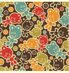 teddy bear background vector image vector image