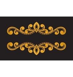 Elegant luxury vintage gold floral border vector image