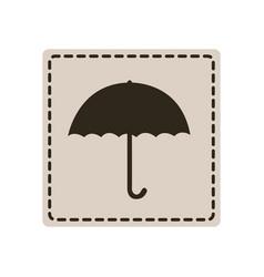 emblem sticker umbrella icon vector image vector image