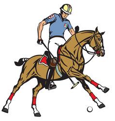 equestrian polo sport vector image vector image