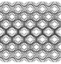 glossy metallic grid with shadow seamless pattern vector image
