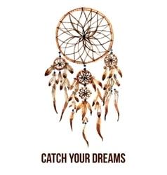 American indian dreamcatcher icon vector image vector image