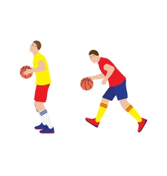 Basketball player with the ball vector image vector image