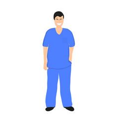 doctor man in hospital flat design vector image vector image