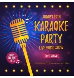 Karaoke party banner vector image vector image