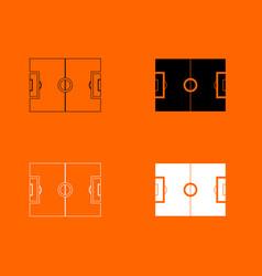 soccer field icon vector image