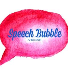 watercolor drawn red speech bubble vector image vector image