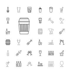 33 wine icons vector
