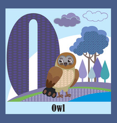 animal alphabet o vector image