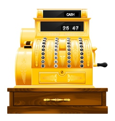antique cash register vector image