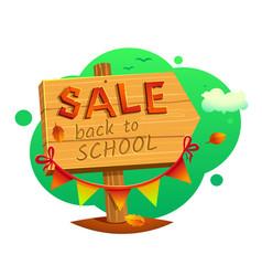 back to school sale vector image