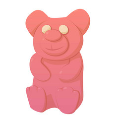Bear candy icon cartoon style vector