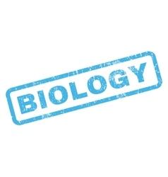 Biology Rubber Stamp vector