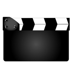 blank movie clapperboard vector image