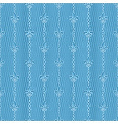 blue lace background with royal lily vector image