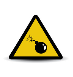 bomb warning sign vector image