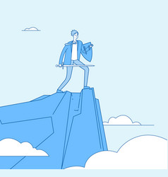 business warrior businessman conqueror knight vector image