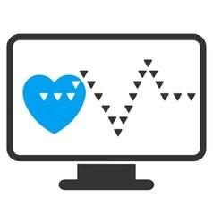 Cardio Monitoring Flat Symbol vector image
