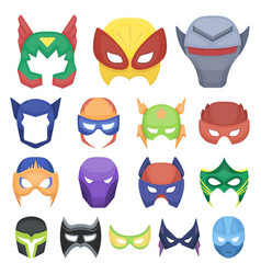 carnival mask cartoon icons in set collection for vector image