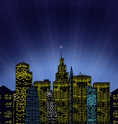 Cityscape and magic phenomenon vector