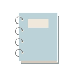 Closed spiral notebook icon cartoon style vector image