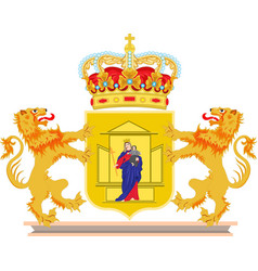 coat of arms of drenthe of netherlands vector image