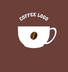 coffee bean logo image vector image