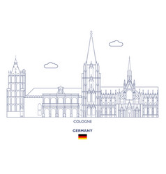 cologne city skyline vector image