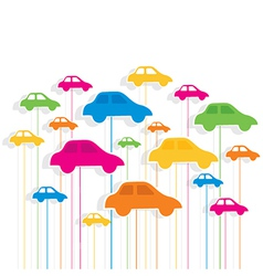 Colorful car pattern background vector