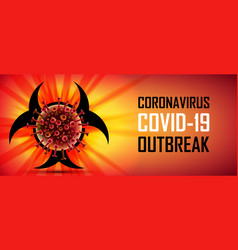 corona virus 2019-ncov banner wuhan virus disease vector image