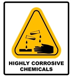 Corrosive sign Warning sign Danger sign vector image