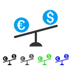 currency trade swing flat icon vector image