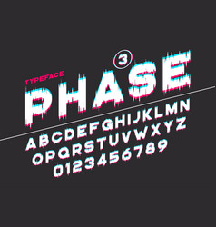 Decorative futuristic font design alphabet vector