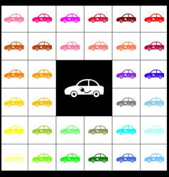 electric car sign felt-pen 33 colorful vector image