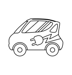 Electric vehicule car vector