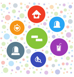 Elements icons vector