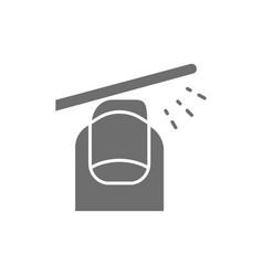 File nails manicure salon gray icon vector