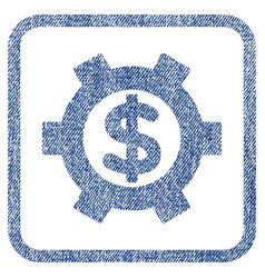 Financial settings fabric textured icon vector