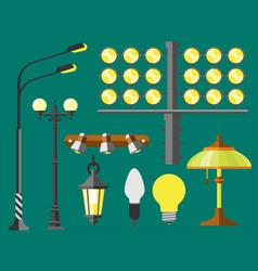 flat electric lantern city lamp street urban vector image