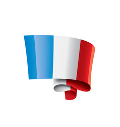france flag on a white vector image