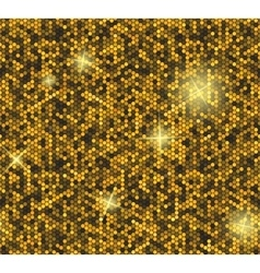 Golden seamless background with sequins vector image