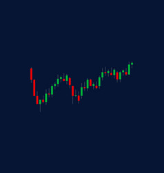 Green red candlesticks investing trading vector