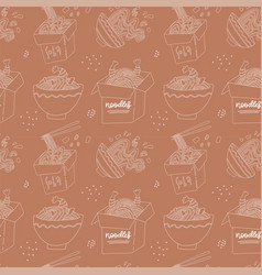 hand drawn linear seamless pattern - hand drawn vector image