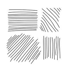 hand lines sketch set stripes vector image