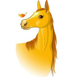 horse autumn vector image