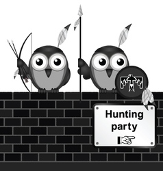 Hunting party vector