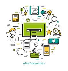 line art concept - bank safe vector image