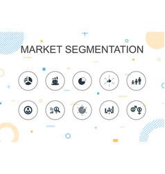 Market segmentation trendy infographic template vector